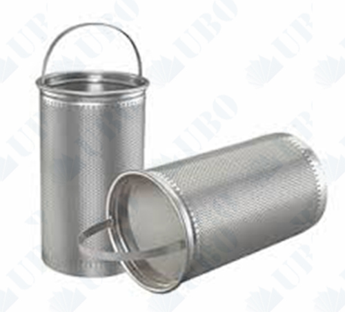 Perforated Stainless Steel Basket Strainer