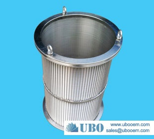 Stainless Steel Wedge Wire Basket Filter