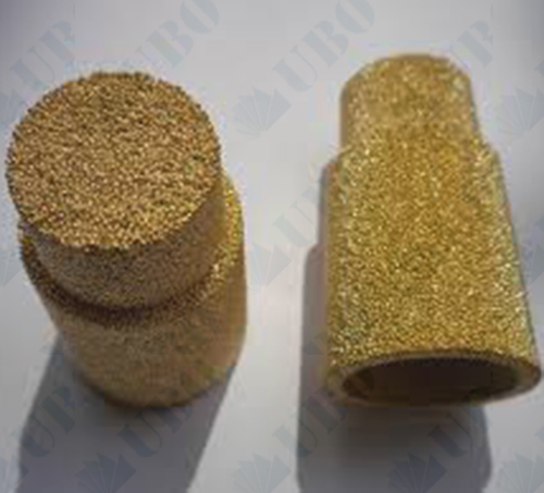 Bronze powder sintered filter cap