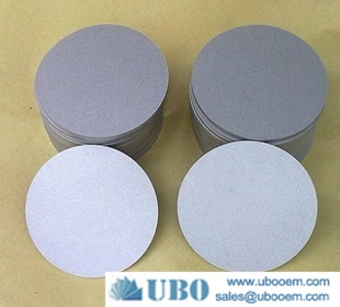 Titanium powder sintered filter disc