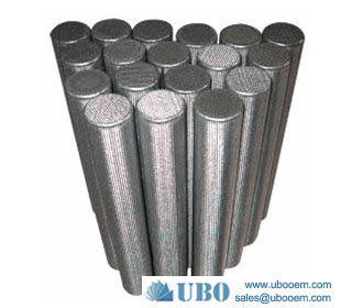 Titanium powder sintered filter candle