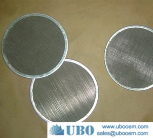 Wire mesh filter cloth packs