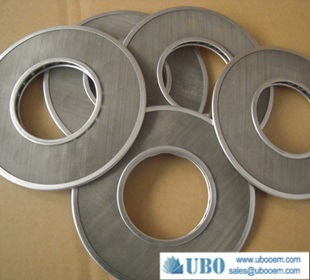Sintered wire mesh leaf filter