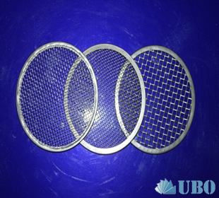 Woven wire mesh filter disc