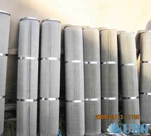 Porous metal fiber felt filter cartridge