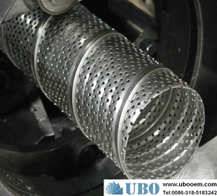 Perforated tube filter