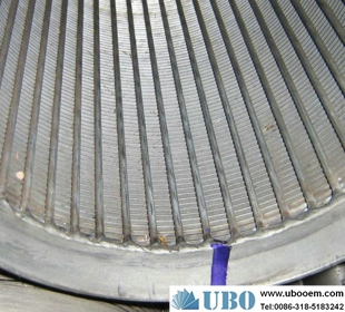 Looped or welded wedge wrapped wire screens cylinder,Looped wedge ...