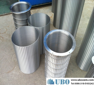 wedge wire screen for food beverage processing