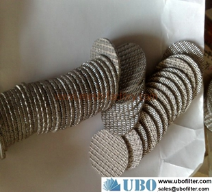 Disk sintered wire mesh fitler elements