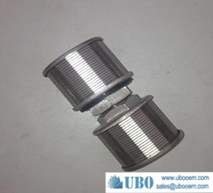 SS316L wedge wire screen nozzle for water cleaning