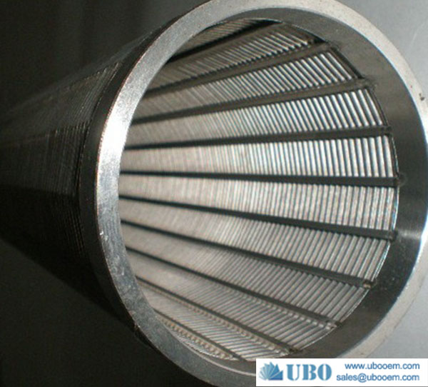 stainless steel water well screen V wire type