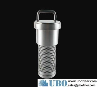 Back flush filter for mining machinery parts