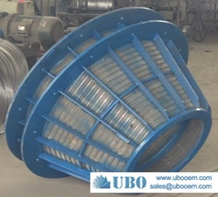 Wedge Wire Screen stainless steel Centrifuge Baskets