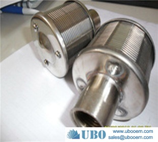 V wire screen filter nozzle for industry filtration
