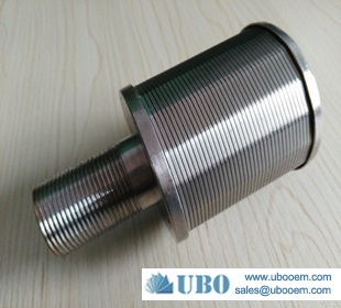 Wedge wire screen & stainless steel filter nozzle