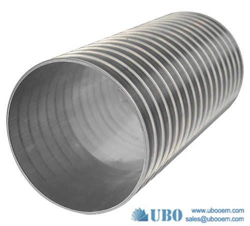 Looped or welded wedge wrapped wire screens cylinder