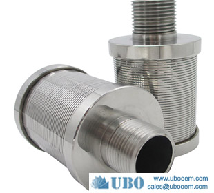 Wedge wire water treatment sand filter nozzle