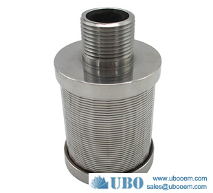SS v wire wedge screen nozzle filter