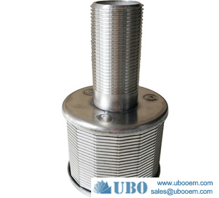 Stainless Steel 304 Water Screen Filter Nozzle