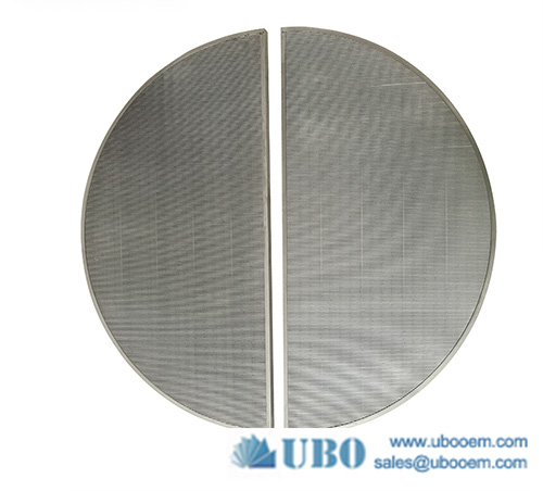 Stainless steel wedge vee wire flat lauter tun screen panel filter
