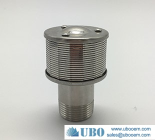 Wire Johnson type filter screen nozzle used in sugar syetem