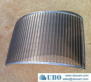 Sieve bend screen for wastewater treatment