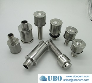 SS filter nozzle for ion exchange system