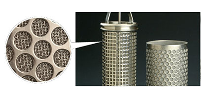 Characteristics of perforated plate sintered mesh