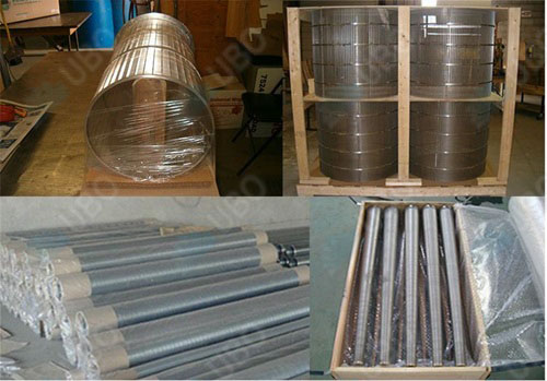 v wire jacketed screen for metallurgical industry