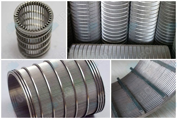 AISI316 wedge wire cylinder filtering element use as Dewatering Screens