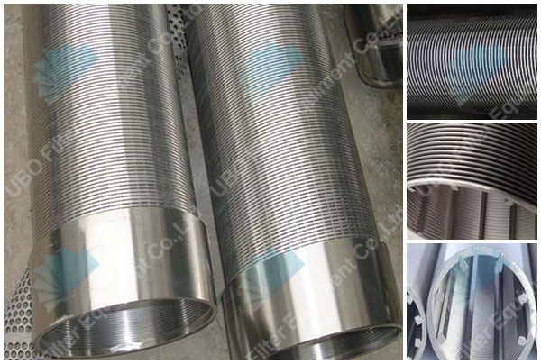 SS304 all welded wedge wire wrapped screen drilling pipe