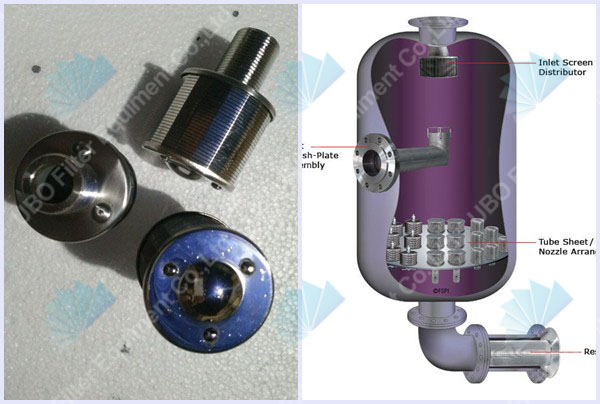 SS water filter nozzle distributor