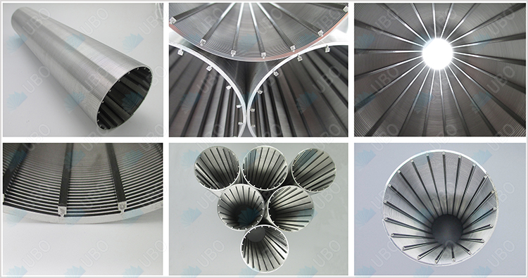water filtration continuous slot wedge wire cylindrical