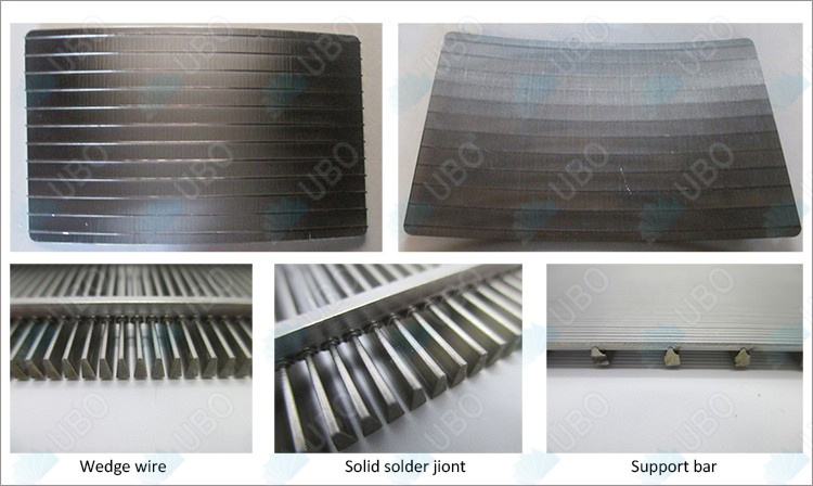 Stainless steel wedge wire sieve bend screen panel for sugar processsing